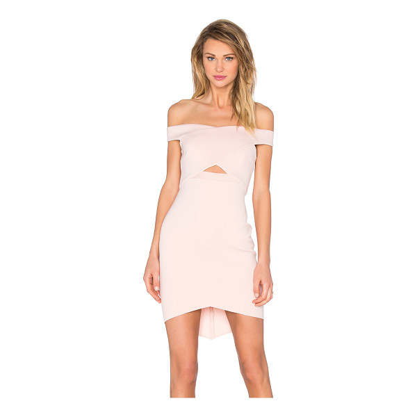 BEC & BRIDGE Desert of Paradise Off Shoulder Mini Dress - Self: 92% poly 8% elastaneCombo: 100% poly. Hand wash cold....
