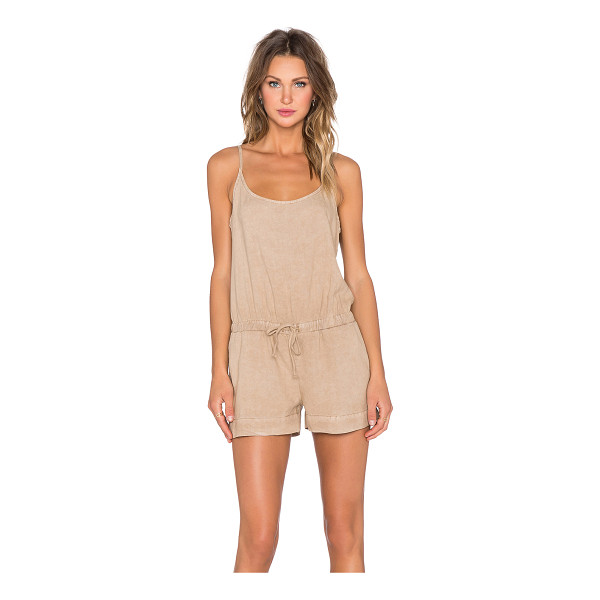 BELLA DAHL Crossback cami romper - 100% tencel. Elastic drawstring waist. Side seam pockets....