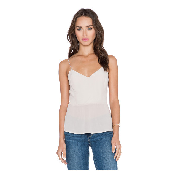 BELLA LUXX Button back tank - Self: 100% silkLining: 65% poly 35% viscose. Dry clean...