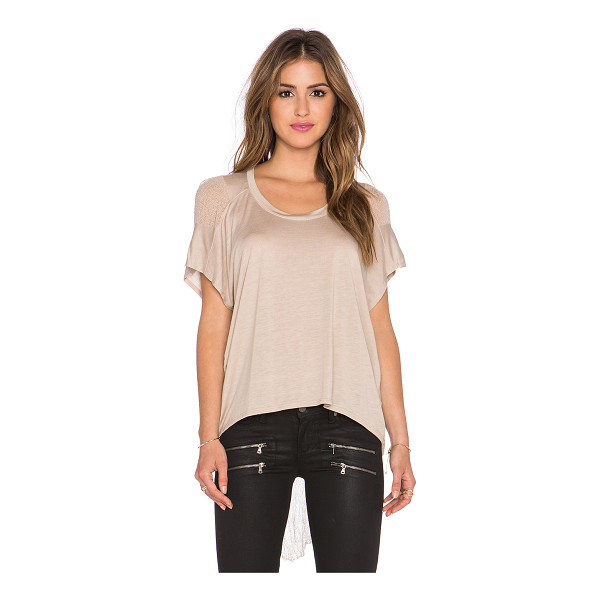 BENJAMIN JAY B shred tee - 100% tencel. Dry clean only. Contrast sides. BENJ-WS6....