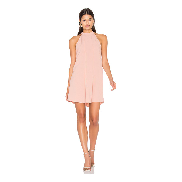 BISHOP + YOUNG Cameron Dress - 100% poly. Unlined. Pleat detail on front. Back keyhole...