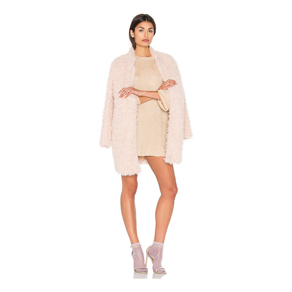 BISHOP + YOUNG Long Faux Fur Jacket - Self: 100% polyLining: 93% poly 7% spandex. Open front....