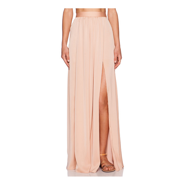 """BLAQUE LABEL Maxi skirt - Poly blend. Skirt measures approx 46"""""""" in length. Unlined...."""
