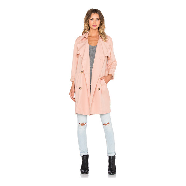BLAQUE LABEL Trench coat - 100% tencel. Dry clean only. Front double breasted button...