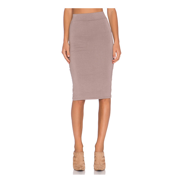 BLQ BASIQ Pencil skirt - 95% rayon 5% spandex. Hand wash cold. Lined. Elasticized...