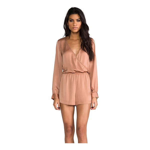 BLU MOON Boho romper - 100% poly. Dry clean only. Wrap front bodice. Elastic...