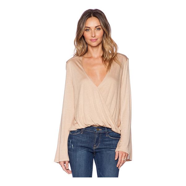 BLUE LIFE Hayley top - 100% micro modal. Dry clean only. Twist wrap front. Jersey...
