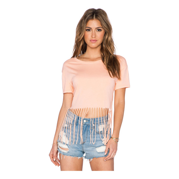 BOBI Pima cotton fringe tee - 100% pima. Fringe trim. BOBI-WS1650. 515 12117. Bobi is an...