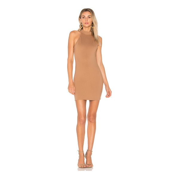 """BY THE WAY. Gracia Halter Bodycon Dress - """"60% rayon 35% acrylic 5% spandex. Hand wash cold. Unlined...."""