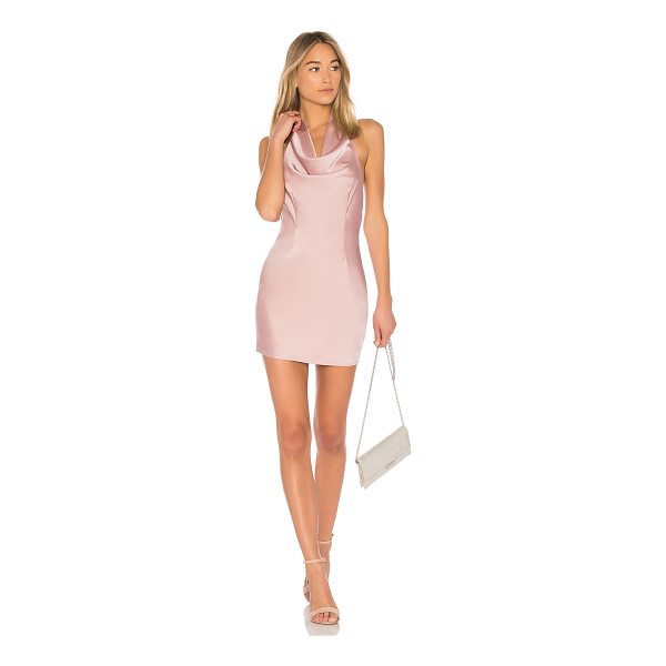 BY THE WAY. Stella Drape Satin Mini Dress - Self & Contrast: 100% poly. Hand wash cold. Draped front....
