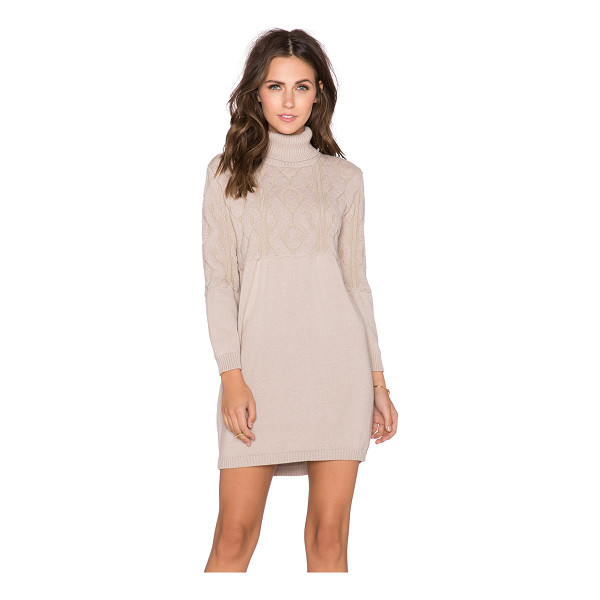 CACHAREL Turtleneck dress - Cotton blend. Dry clean only. Unlined. CACR-WD5. KNITWEAR...