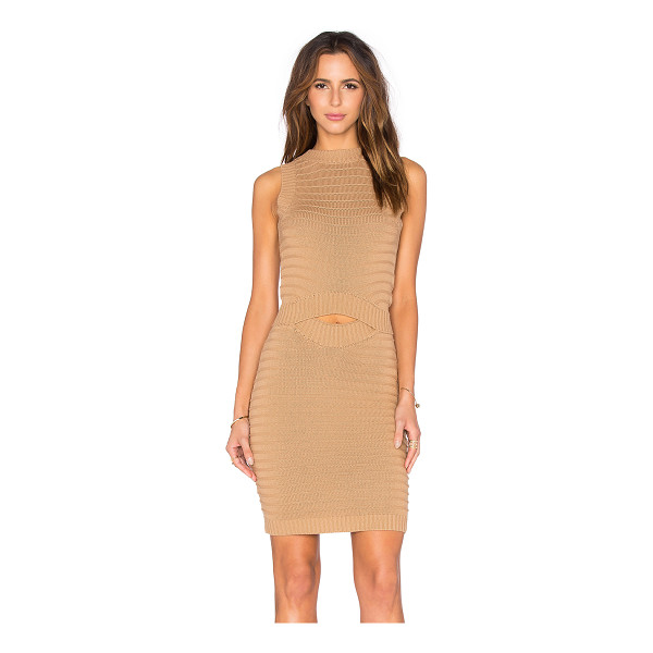 CALLAHAN Cut Out Midi Dress - 100% cotton. Hand wash cold. Unlined. Cut-out detail....
