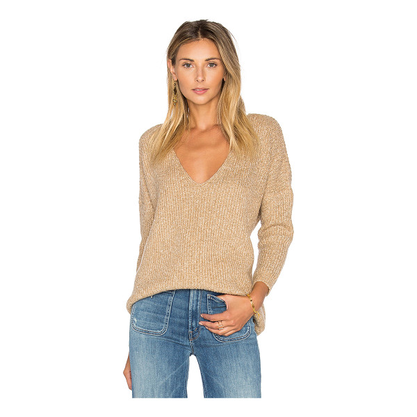 CALLAHAN Heathered V Neck Sweater - Cotton blend. Hand wash cold. Rib knit fabric. CAHN-WK18....