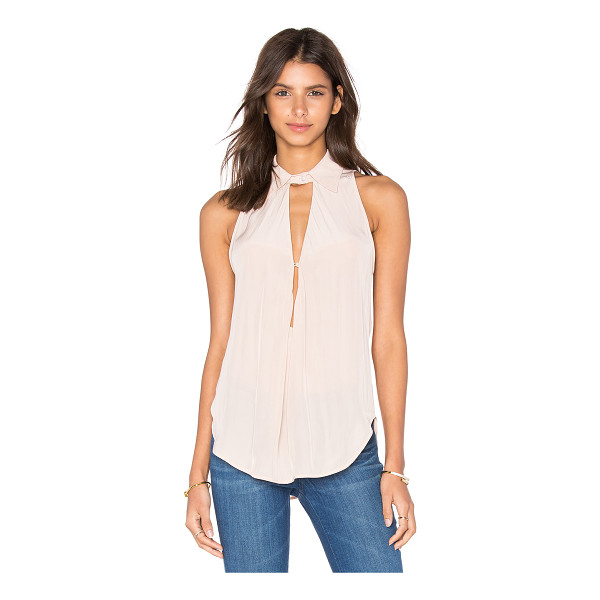 CALVIN RUCKER Rather B Tank - Silk blend. Dry clean only. Neckline keyhole with button...