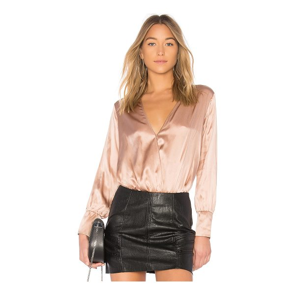 CAMI NYC The Allison Bodysuit - 100% silk. Dry clean only. Surplice front with snap button...