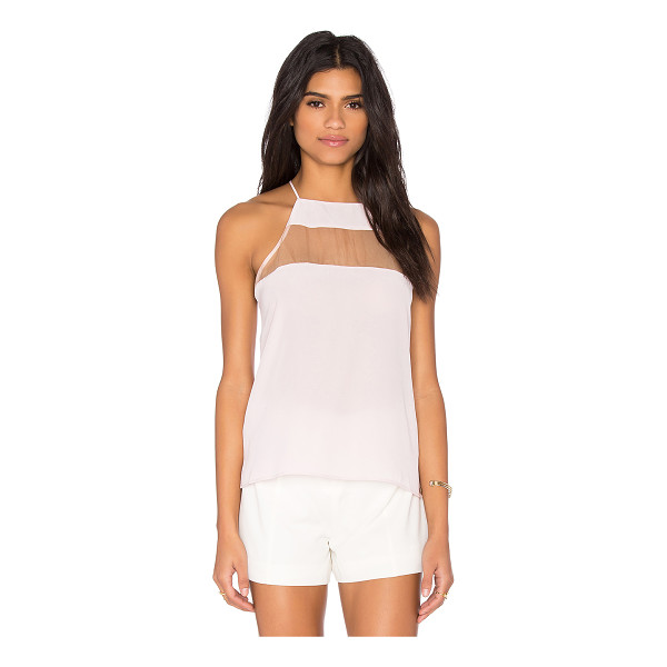CAMI NYC x REVOLVE The High Top - 100% silk. Dry clean only. Contrast sheer panel. CAMN-WS39....