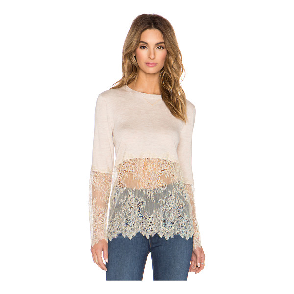 CANDELA Milton top - Cotton blend. Hand wash cold. Lace accent. CAND-WS19....