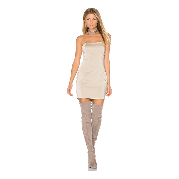 "CAPULET Amber Bodycon Dress - ""Poly blend. Dry clean only. Unlined. Adjustable shoulder..."