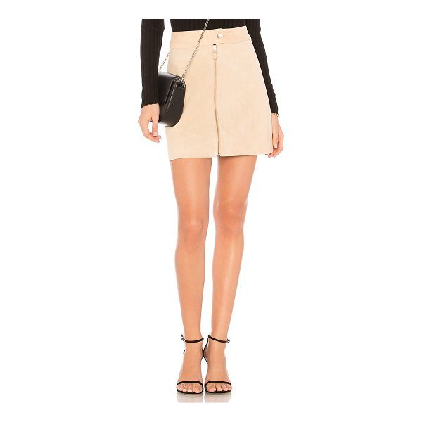 "CAPULET Nadya Mini Skirt - ""Self: 100% leatherLining: 100% poly. Dry clean only. Fully..."