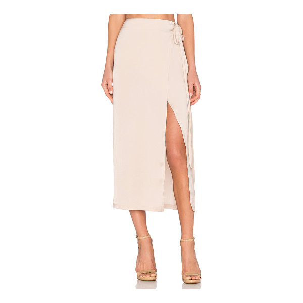 CAPULET Wrap Maxi Skirt - 100% poly. Dry clean only. Unlined. Wrap front with tie...