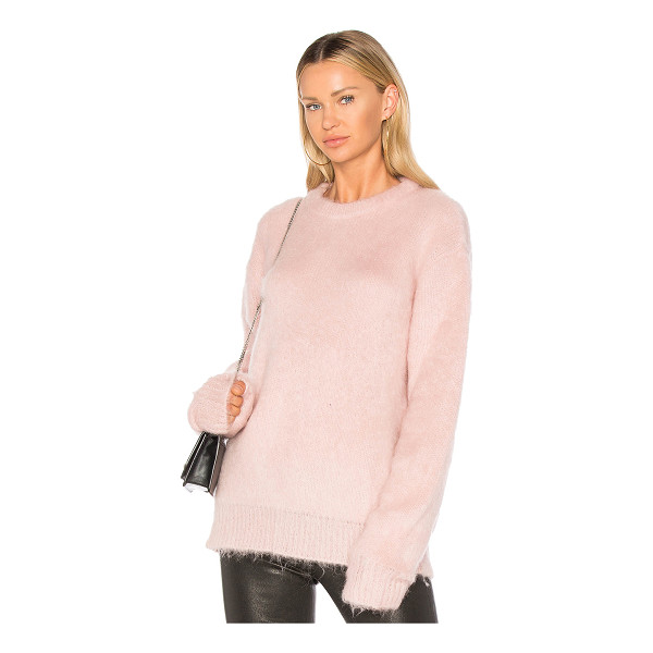 CARVEN Mohair Sweater - Bundle up in fashion's most coveted color. Cozy mohair...