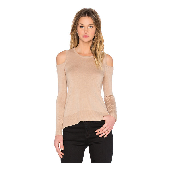 CENTRAL PARK WEST Provence cold shoulder sweater - 77% rayon 23% nylon. Dry clean only. Shoulder cut-outs....