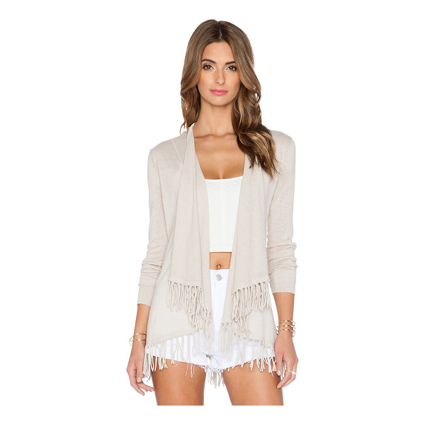 CENTRAL PARK WEST Sardinia fringe cardigan - 55% ramie 45% cotton. Dry clean only. Open front. Fringe...