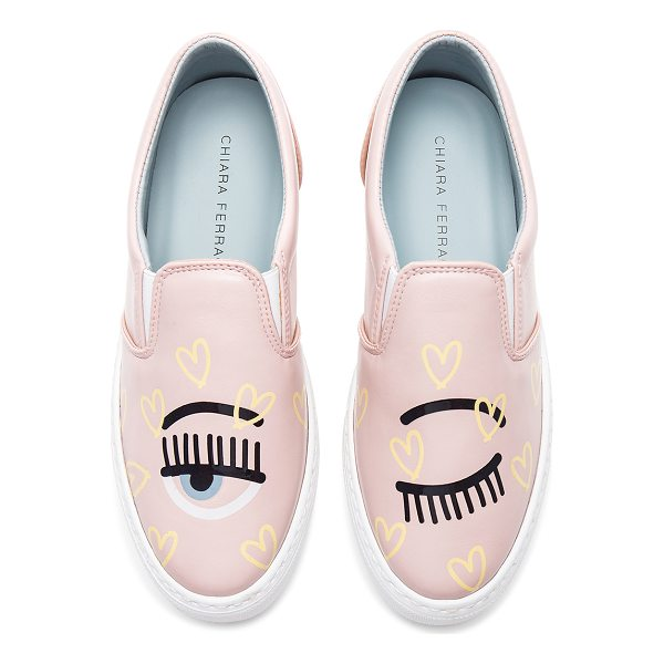 CHIARA FERRAGNI Candy Flirting Slip On - Leather upper with rubber sole. Slip-on styling. Patent...