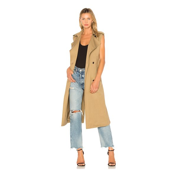 CITIZENS OF HUMANITY Sleeveless Trench - 100% cotton. Front button closure. Side flap pockets with...