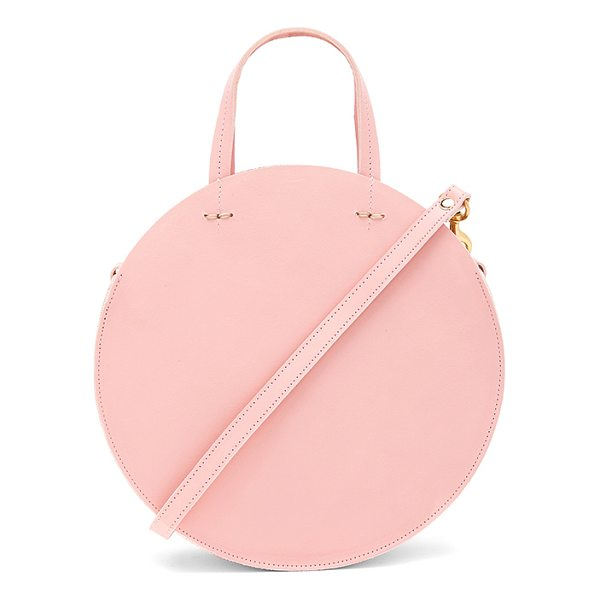 CLARE V. Supreme Alistair Petit Bag - Leather exterior with denim fabric lining. Zip top closure....