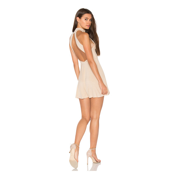 """CLAYTON Aliza Dress - """"95% viscose 5% spandex. Hand wash cold. Unlined. Cut-Out..."""