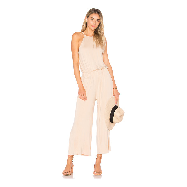 """CLAYTON Marley Cropped Jumpsuit - """"95% viscose 5% spandex. Hand wash cold. Back keyhole with..."""