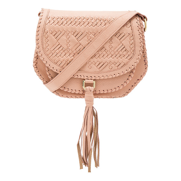 CLEOBELLA Goldie Saddle Bag - Leather exterior with canvas lining. Flap top with magnetic