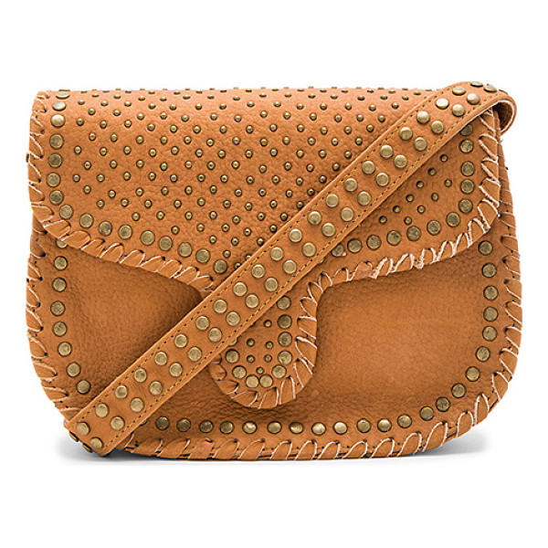 CLEOBELLA Phoebe Medium Crossbody Bag - Leather exterior with fabric lining. Flap top with magnetic...