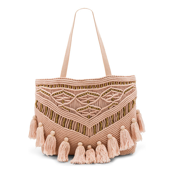 """CLEOBELLA Swoon Tote Bag - """"Woven cotton exterior with cotton fabric lining. Top..."""