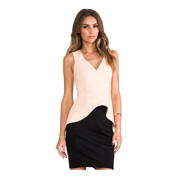 C/MEO Hurricane top - Self & Lining: 100% poly. Hand wash cold. Asymmetric hem....