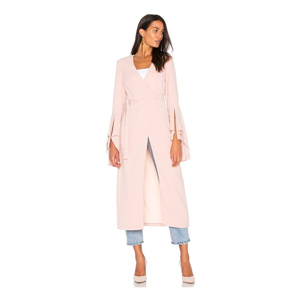 C/MEO Still Standing Trench - Rayon blend. Dry clean only. Textured fabric. Wrap front...