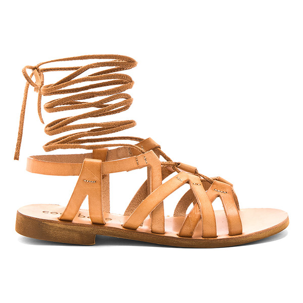 COCOBELLE Cleo Sandals - Leather upper with man made sole. Lace-up front with wrap