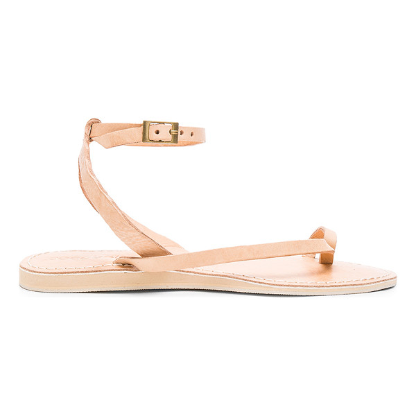 COCOBELLE Spartan Sandal - Leather upper with man made sole. Ankle strap with buckle...