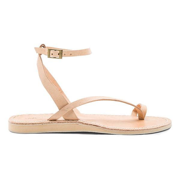 COCOBELLE Spartan Sandals - Leather upper with rubber sole. Ankle strap with buckle...