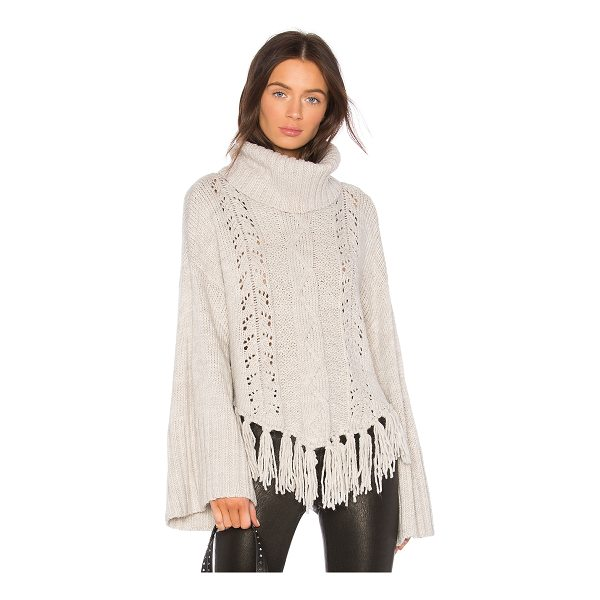CUPCAKES AND CASHMERE Prilla Fringe Sweater - 85% acrylic 10% nylon 5% poly. Dry clean only. Rib knit...