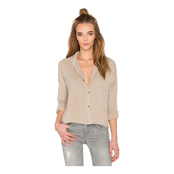 CURRENT/ELLIOTT The boxy cropped button up - 100% cotton. Front button closure. Chest pocket....