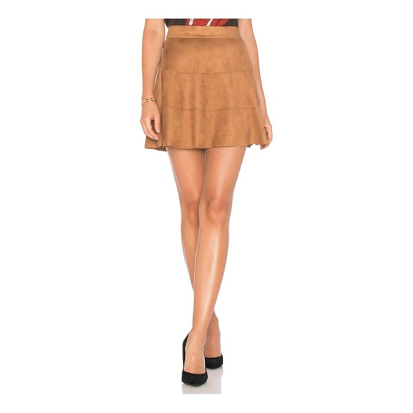 "DAVID LERNER Waverly Suede Skirt - ""Poly blend. Dry clean only. Unlined. Hidden back zipper..."