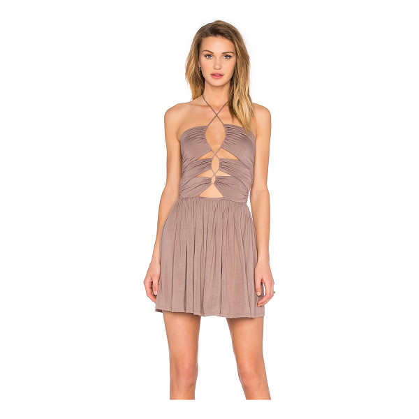 DE LACY Sophia Dress - 95% modal 5% spandex. Unlined. Front cut-out with lace-up...