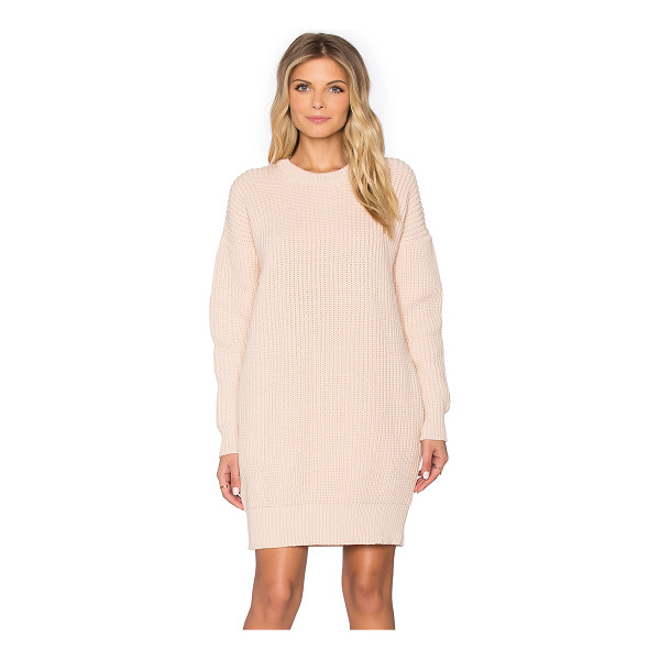 DEMYLEE Sydney sweater dress - 64% cotton 36% nylon. Dry clean only. Unlined. Ribbed trim....