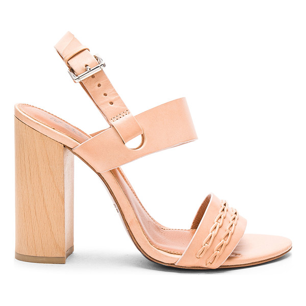 DEREK LAM 10 CROSBY Mandy heel - Leather upper and sole. Ankle strap with buckle closure....