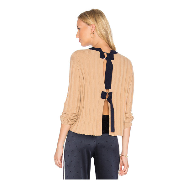 DEREK LAM 10 CROSBY Open Back Pullover - 70% wool 30% cashmere. Dry clean only. Rib knit fabric....