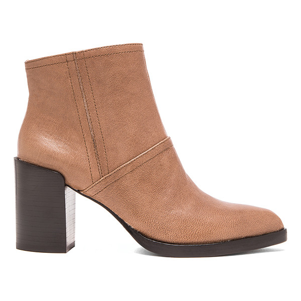DEREK LAM 10 CROSBY Raine bootie - Leather upper and sole. Side zip closure. Heel measures...