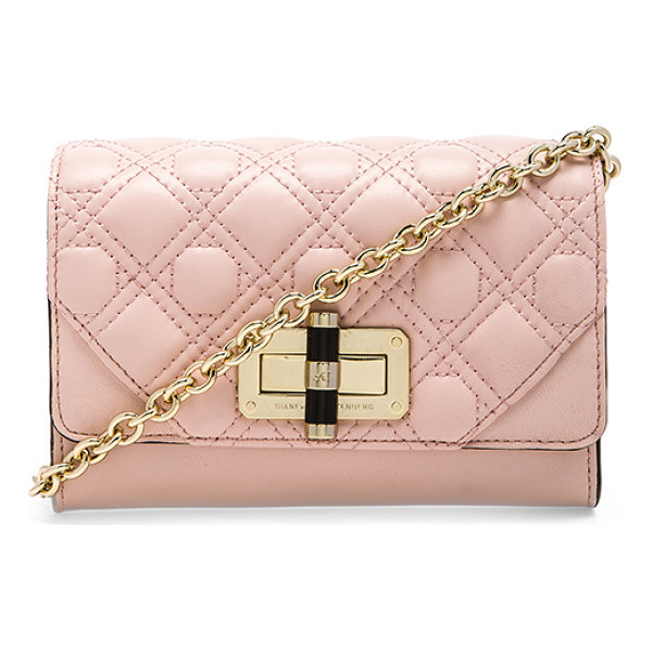 DIANE VON FURSTENBERG Gallery micro mini crossbody - Quilted leather exterior with jacquard fabric lining....