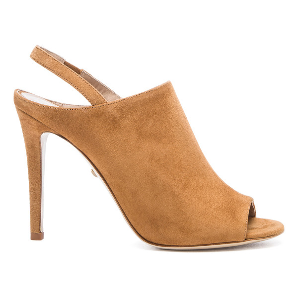 "DIANE VON FURSTENBERG Violet heel - Suede upper with leather sole. Heel measures approx 4.5""""..."